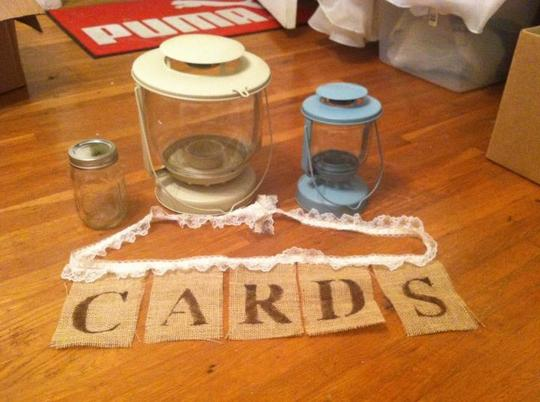 Burlap And Lace Card Banner