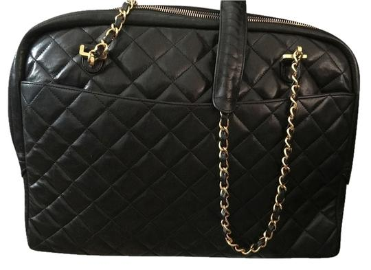 Preload https://item1.tradesy.com/images/chanel-black-lambskin-tote-4017580-0-1.jpg?width=440&height=440