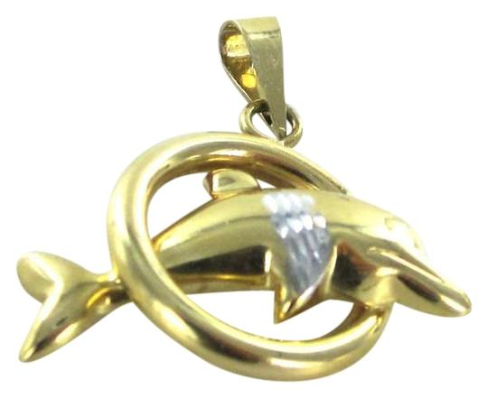 Preload https://item5.tradesy.com/images/gold-14kt-yellow-pendant-dolphin-jumping-in-hoop-charm-401759-0-0.jpg?width=440&height=440