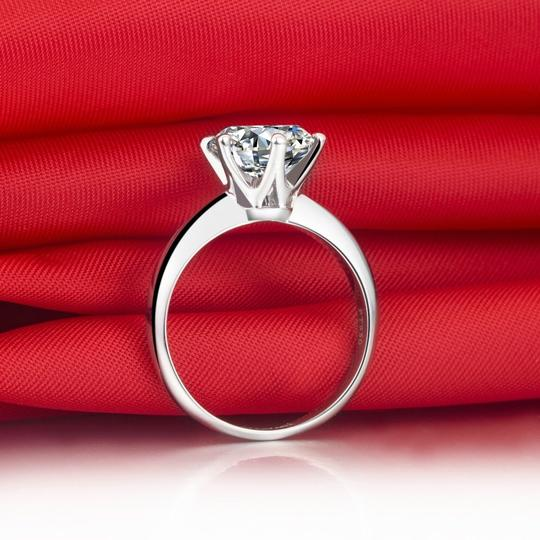 2ct Nscd Simulated Diamond Solitaire Wedding Engagement Ring 6 Prong