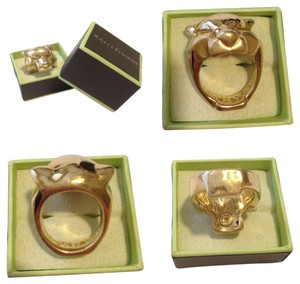 Ross-Simons Cartier look-a-like Panther Lion Tiger Head Gold Statement Ring