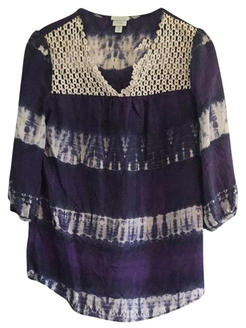 Preload https://item2.tradesy.com/images/calypso-st-barth-for-target-navy-purple-white-tunic-size-8-m-4018546-0-0.jpg?width=400&height=650