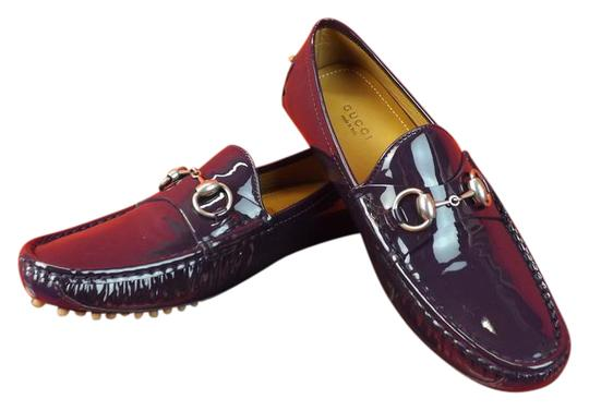 Preload https://item2.tradesy.com/images/gucci-puple-horsebit-patent-leather-damo-silver-driver-loafers-65-flats-size-eu-365-approx-us-65-reg-4018576-0-2.jpg?width=440&height=440
