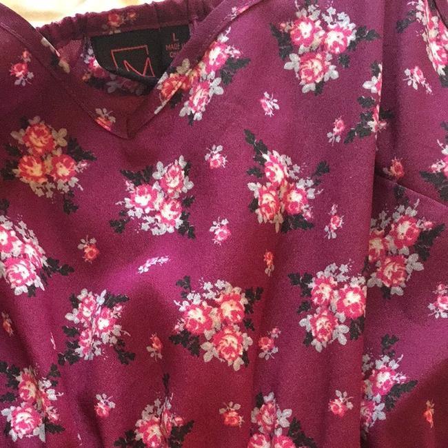 Material Girl short dress Purple Floral on Tradesy