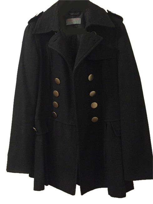 PAPER DOLL Military Style Gold Boutique Winter Season Pea Coat