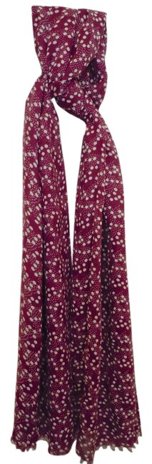 Item - Purple Printed Viscose Spot Scarf/Wrap