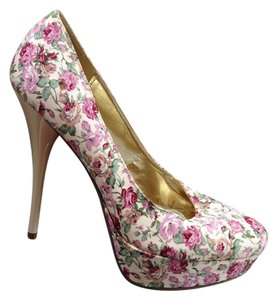 FH Pink Peach Floral Pumps