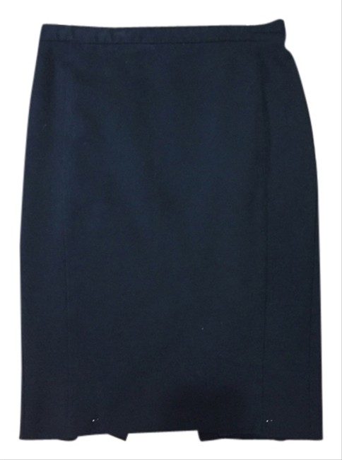 Express Pencil Work Professional Clothing Wear 2 Small Hem Straight Skirt Black