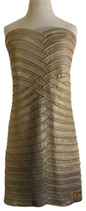 BCBGMAXAZRIA Designer Evening Holiday Strapless Flattering Dress