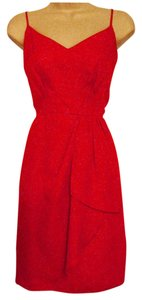 Antonio Melani short dress Deep Orange Knee-length Polyester on Tradesy