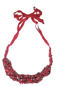 Boden Boden ribbon bead necklace red
