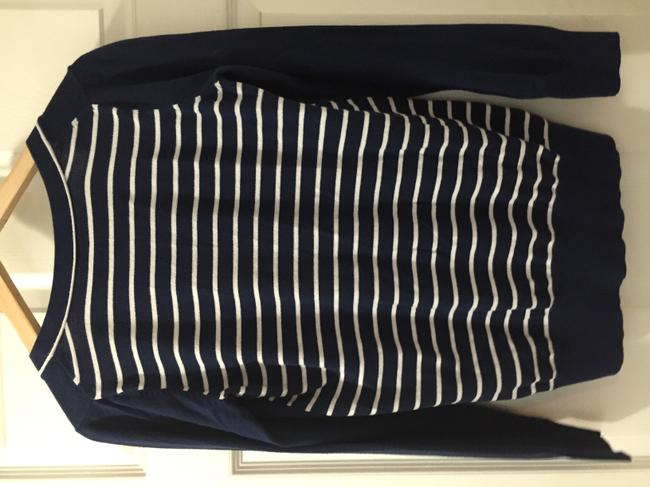 Other Jcpenney J C Blue Striped White Cardigan