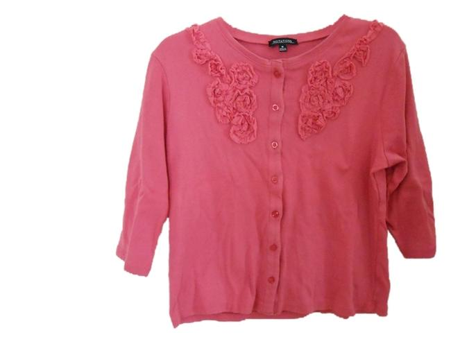 Preload https://item5.tradesy.com/images/notations-pink-ruffle-cardigan-size-8-m-4019149-0-0.jpg?width=400&height=650
