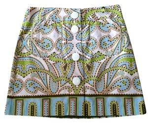 J.Crew Size 6 Mini Skirt Multi color paisley print
