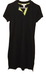 Other short dress Black with green trim Summer on Tradesy
