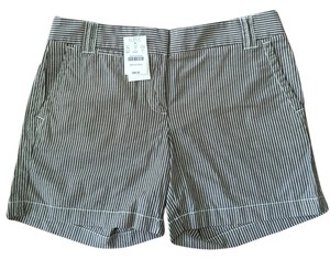 J.Crew Summer Boyfriend Mini/Short Shorts Black and Cream stripe