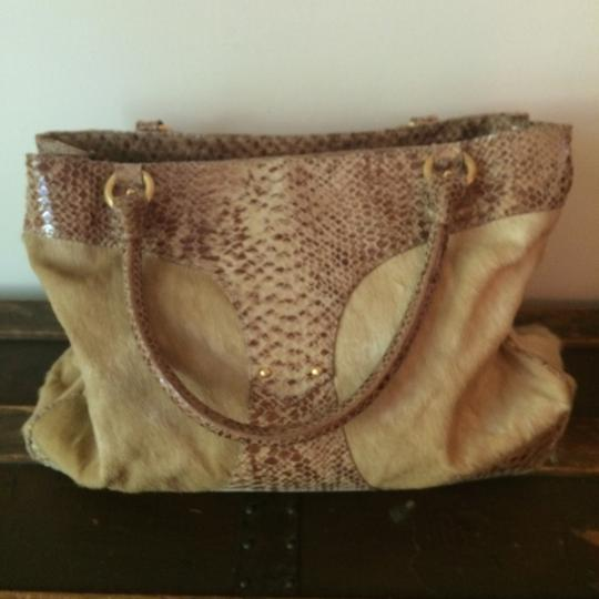 Roberto Cavalli Satchel in Tan