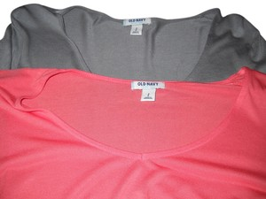 Old Navy 2 For 1 Long Sleeve Tees T Shirt One grey, one salmon