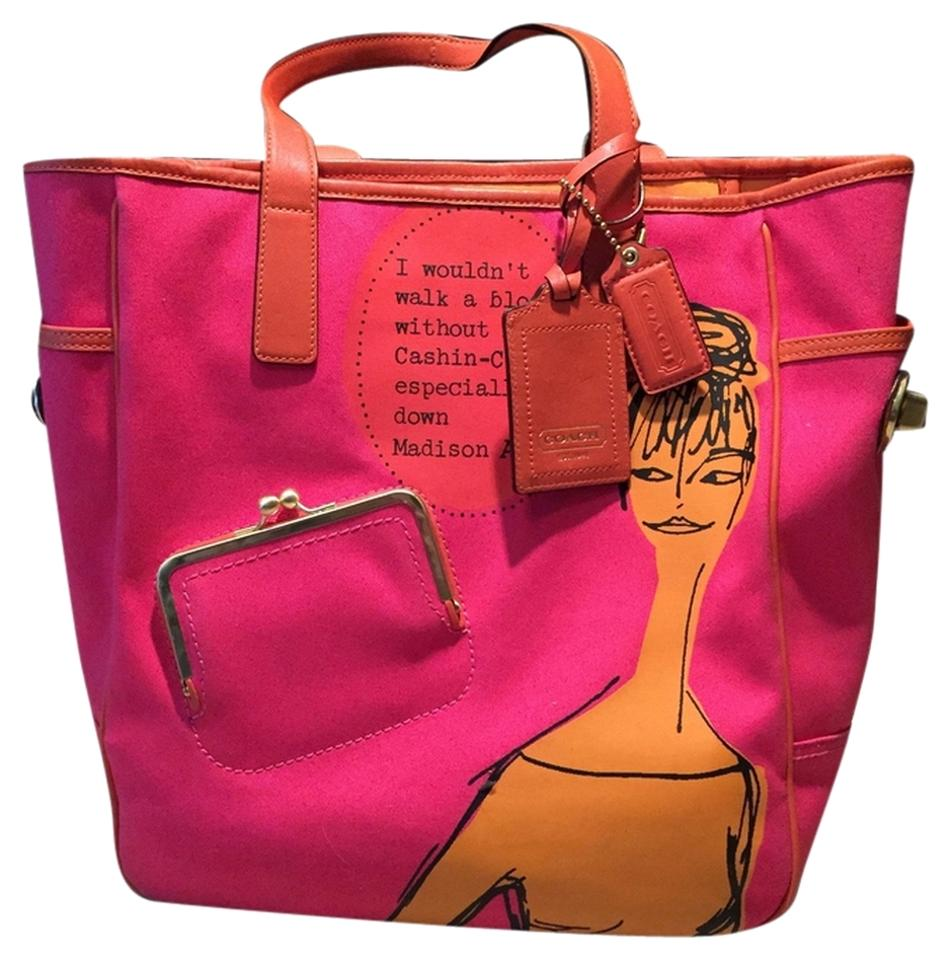 857b9920978b1 Coach Cashin Carry Bonnie Cashin Leather Vintage-style Tote in Hot Pink and  Goldenrod Image ...