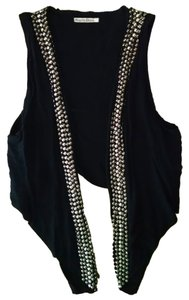Scarlet Roos Cardigan Black P1453 Size Small Top black, silver