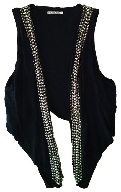 Scarlet Roos P1453 Size Small Top black, silver