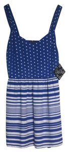 Be Bop short dress Blue And White on Tradesy