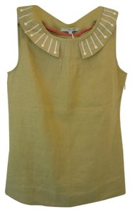 Boden Linen Sleeveless Top yellow