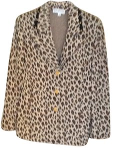 St. John Button Down Shirt Animal Print