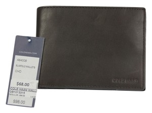 Cole Haan Cole Haan Slimfold Leather Wallet - Chocolate