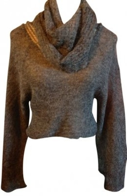 Preload https://item2.tradesy.com/images/free-people-grey-cowl-neck-high-sweaterpullover-size-8-m-40206-0-0.jpg?width=400&height=650