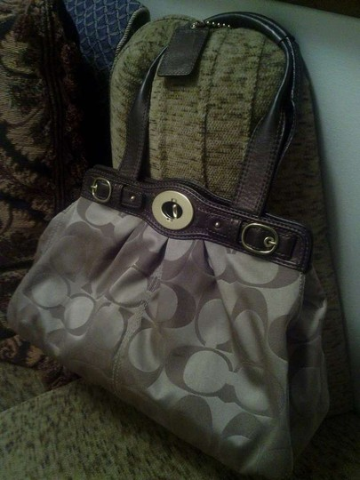 Coach Satchel in Tan and brown