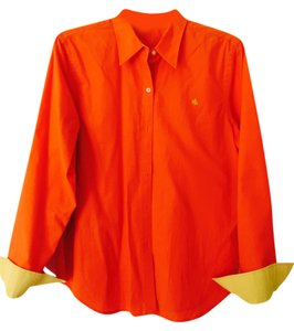 Lauren Ralph Yello Top Orange