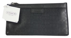 Coach * Coach HPC Envelope Leather Keycase - Black