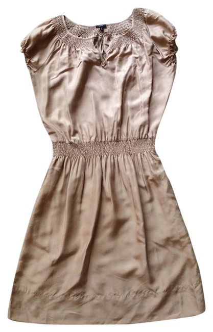 Preload https://item2.tradesy.com/images/talbots-tan-pheasant-smock-short-casual-dress-size-8-m-4020991-0-0.jpg?width=400&height=650