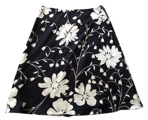 Tibi Skirt Black White