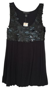 INC International Concepts Petite Embellished Top Black