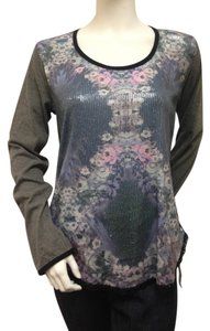 Custo Barcelona Buret Sequin Floral Knit Sweatshirt