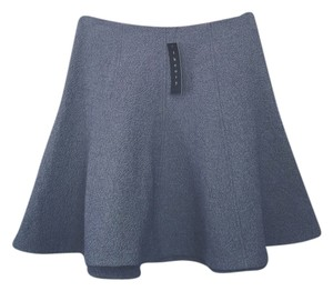 Theory Flare Mini Skirt Blue
