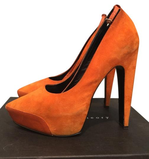 Theory Orange Pumps