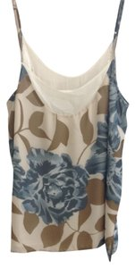 Anthropologie Cami Floral Eloise Top Beige