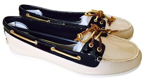 Sperry Topsider Topsiders Top-sider Top-sipers Top Sider Top Boat Boat Slip Ons Slip--ons Yacht Yacht Patent Nude & Black Flats