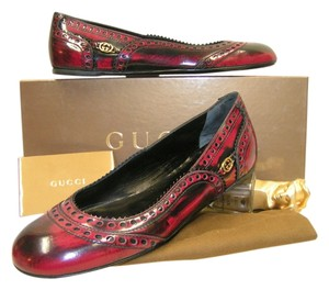 Gucci Black/Red Flats