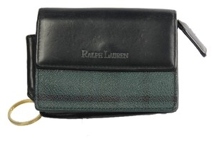 Ralph Lauren * Ralph Lauren Plaid Leather Wallet - Black/Green