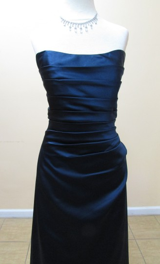 DaVinci Bridal Midnight Satin 9136 Modern Bridesmaid/Mob Dress Size 14 (L)