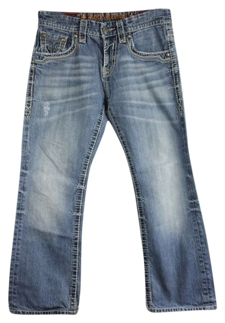 Rock Revival Relaxed Fit Jeans-Light Wash