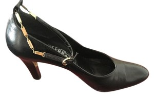 Salvatore Ferragamo Leather Nero Kid Black Pumps