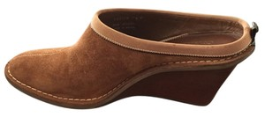 Cole Haan Amber Suede Brown Mules
