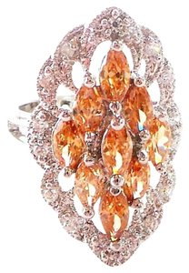 Other Morganite and Zircon Fancy Cocktail Ring 7