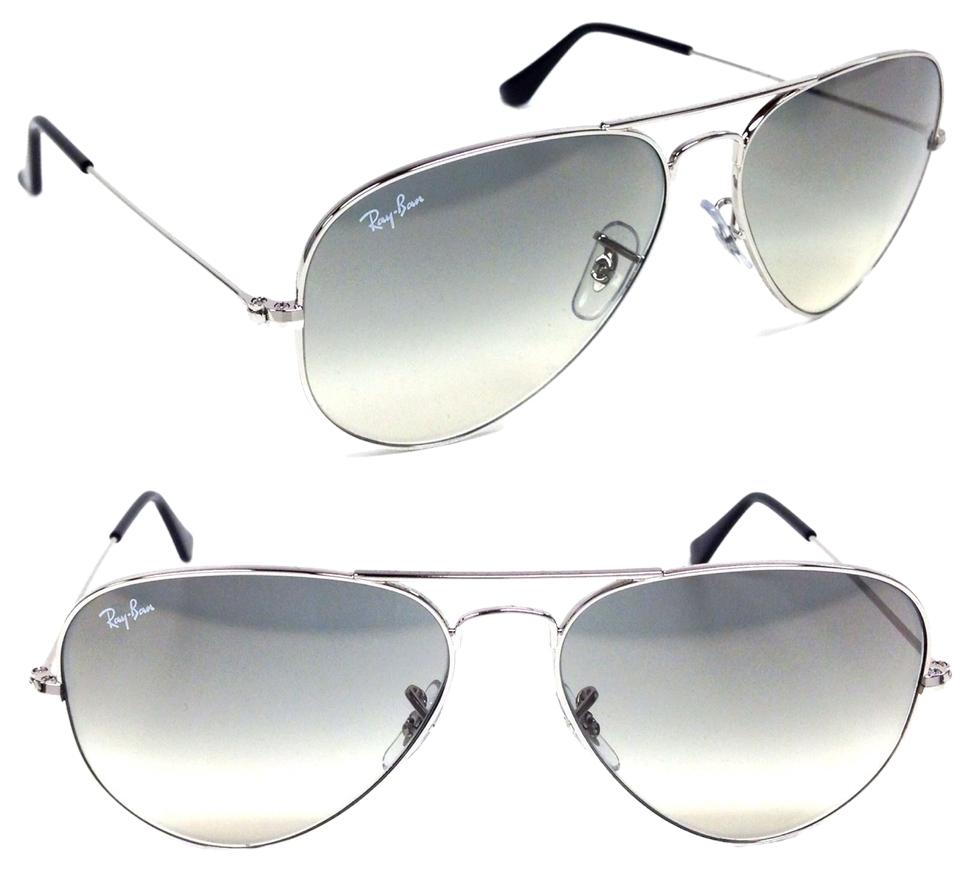 e1331f689d0f Ray-Ban Grey Gradient Lens with Silver Frame Aviator Rb3025 003 32 Size  58mm Sunglasses