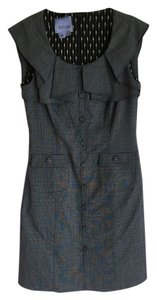 Kay Unger Tweed Office Black Dress